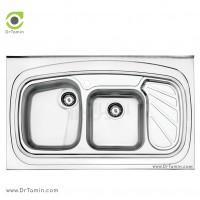 سینک فانتزی روکار استیل البرز مدل 611/60 <br> ( ابعاد 60×100 سانتیمتر)