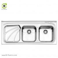 سینک فانتزی روکار استیل البرز مدل 612/50 <br> ( ابعاد 50×120 سانتیمتر)