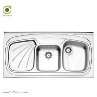 سینک فانتزی روکار استیل البرز مدل 614/60 <br> ( ابعاد 60×120 سانتیمتر)
