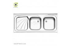 سینک نیمه فانتزی روکار استیل البرز مدل 220/50 (ابعاد 50×120 سانتیمتر)