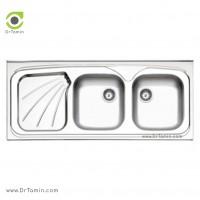 سینک نیمه فانتزی روکار استیل البرز مدل 270/50 <br> ( ابعاد 50×120 سانتیمتر)