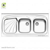 سینک نیمه فانتزی روکار استیل البرز مدل 270/60 <br> ( ابعاد 60×120 سانتیمتر)