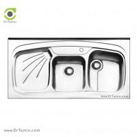 سینک ظرفشویی روکار ایلیا استیل مدل 1013 <br> ( ابعاد 60×120 سانتیمتر)