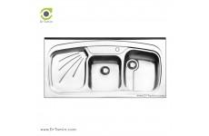 سینک ظرفشویی روکار ایلیا استیل مدل 1013 (ابعاد 60×120 سانتیمتر)