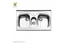 سینک ظرفشویی روکار ایلیا استیل مدل 1014 (ابعاد 60×100 سانتیمتر)