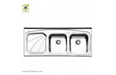 سینک ظرفشویی روکار ایلیا استیل مدل 1023 (ابعاد 50×120 سانتیمتر)