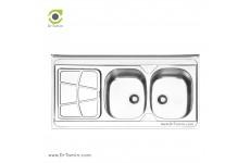 سینک ظرفشویی روکار ایلیا استیل مدل 1030 (ابعاد 60×120 سانتیمتر)
