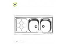سینک ظرفشویی روکار ایلیا استیل مدل 1031 (ابعاد 60×120 سانتیمتر)