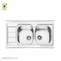 سینک ظرفشویی روکار ایلیا استیل مدل 1051 <br> ( ابعاد 60×100 سانتیمتر)