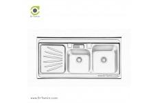 سینک ظرفشویی روکار ایلیا استیل مدل 1061 (ابعاد 60×120 سانتیمتر)