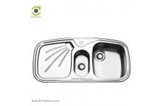 سینک ظرفشویی توکار ایلیا استیل مدل 2012 (ابعاد 51×100 سانتیمتر)