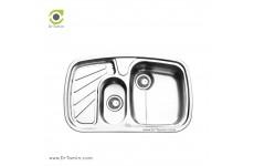 سینک ظرفشویی توکار ایلیا استیل مدل 2018 (ابعاد 50×80 سانتیمتر)