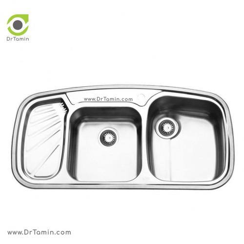 سینک ظرفشویی توکار ایلیا استیل مدل 2020 <br> ( ابعاد 51×100 سانتیمتر)