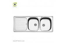 سینک ظرفشویی توکار ایلیا استیل مدل 2025 (ابعاد 50×120 سانتیمتر)
