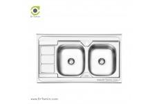 سینک ظرفشویی روکار ایلیا استیل مدل 3051 (ابعاد 60×100 سانتیمتر)