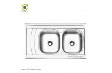 سینک ظرفشویی روکار ایلیا استیل مدل 3054 (ابعاد 60×100 سانتیمتر)
