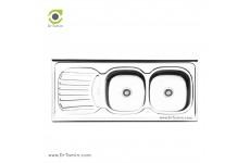 سینک ظرفشویی روکار ایلیا استیل مدل 3510 (ابعاد 50×120 سانتیمتر)