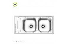 سینک ظرفشویی توکار ایلیا استیل مدل 4054 (ابعاد 50×100 سانتیمتر)