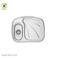 سینک ظرفشویی توکار اخوان کد 1 <br> ( 62cm×50cm)