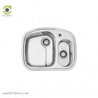 سینک ظرفشویی توکار اخوان کد 2 <br> ( 62cm×50cm)