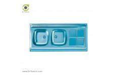 سینک ظرفشویی روکار اخوان کد 4CRB-12060 (120cm×60cm)