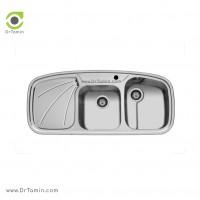 سینک ظرفشویی توکار اخوان کد 6 <br> ( 116cm×50cm)