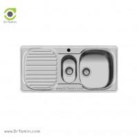 سینک ظرفشویی توکار اخوان کد 10 <br> ( 100cm×50cm)