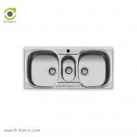 سینک ظرفشویی توکار اخوان کد 12 <br> ( 100cm×50cm)
