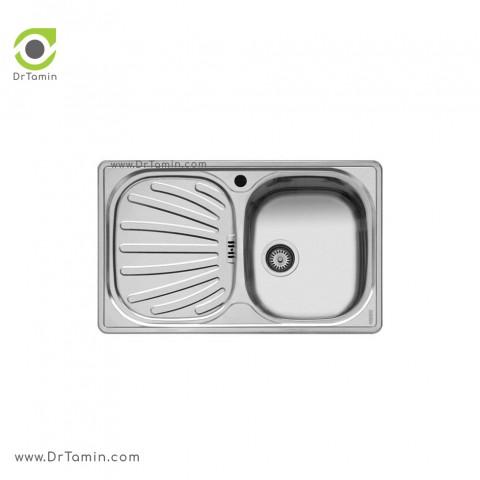 سینک ظرفشویی توکار اخوان کد 14   ( 80cm×50cm)