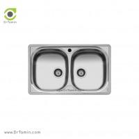 سینک ظرفشویی توکار اخوان کد 15 <br> ( 80cm×50cm)