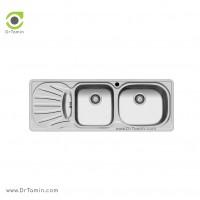 سینک ظرفشویی توکار اخوان کد 18 <br> ( 120cm×44cm)