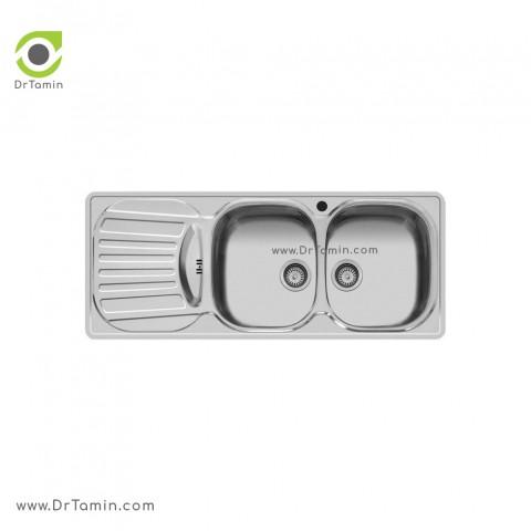سینک ظرفشویی توکار اخوان کد 18   ( 120cm×50cm)