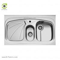 سینک ظرفشویی روکار اخوان کد 23 <br> ( 100cm×60cm)