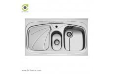 سینک ظرفشویی روکار اخوان کد 23 (100cm×60cm)