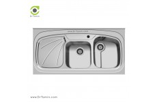 سینک ظرفشویی روکار اخوان کد 25 (120cm×60cm)