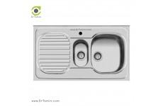 سینک ظرفشویی روکار اخوان کد 27 (100cm×60cm)