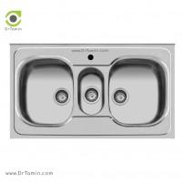 سینک ظرفشویی روکار اخوان کد 29 <br> ( 100cm×60cm)