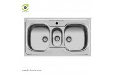 سینک ظرفشویی روکار اخوان کد 29 (100cm×60cm)