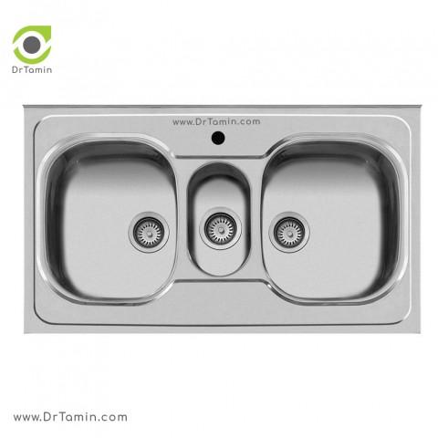 سینک ظرفشویی روکار اخوان کد 29   ( 100cm×60cm)