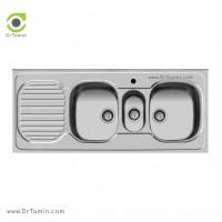 سینک ظرفشویی روکار اخوان کد 33 <br> ( 140cm×60cm)