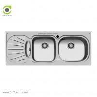 سینک ظرفشویی روکار اخوان کد 36 <br> ( 120cm×50cm)