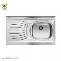 سینک ظرفشویی روکار اخوان کد 37 <br> ( 100cm×50cm)