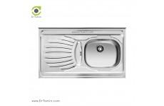 سینک ظرفشویی روکار اخوان کد 37 (100cm×50cm)