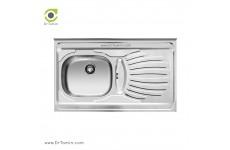 سینک ظرفشویی روکار اخوان کد 38 (100cm×60cm)