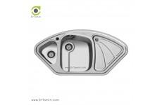 سینک ظرفشویی توکار اخوان کد 47 (100cm×50cm)