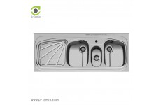 سینک ظرفشویی روکار اخوان کد 57 (150cm×60cm)