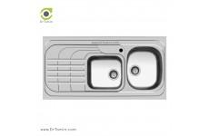 سینک ظرفشویی روکار اخوان کد 74 (120cm×60cm)