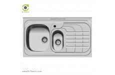 سینک ظرفشویی روکار اخوان کد 75 (100cm×60cm)