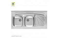 سینک ظرفشویی روکار اخوان کد SP 121 (120cm×60cm)