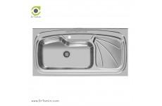 سینک ظرفشویی روکار اخوان کد 134 (120cm×60cm)